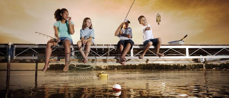 take a kid fishing main banner image takf